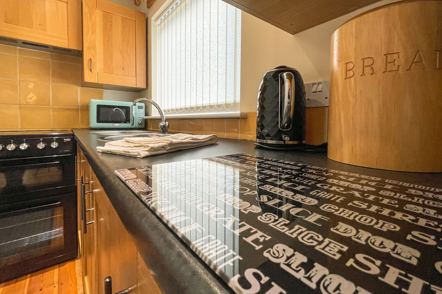 Kitchen at the Cottage at Coquet Meadows