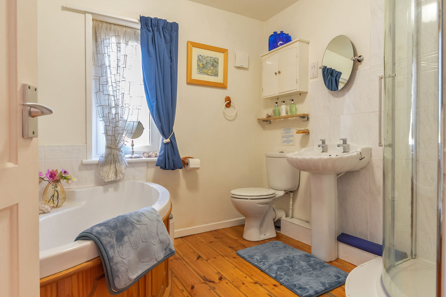 Bathroom at the Cottage at Coquet Meadows