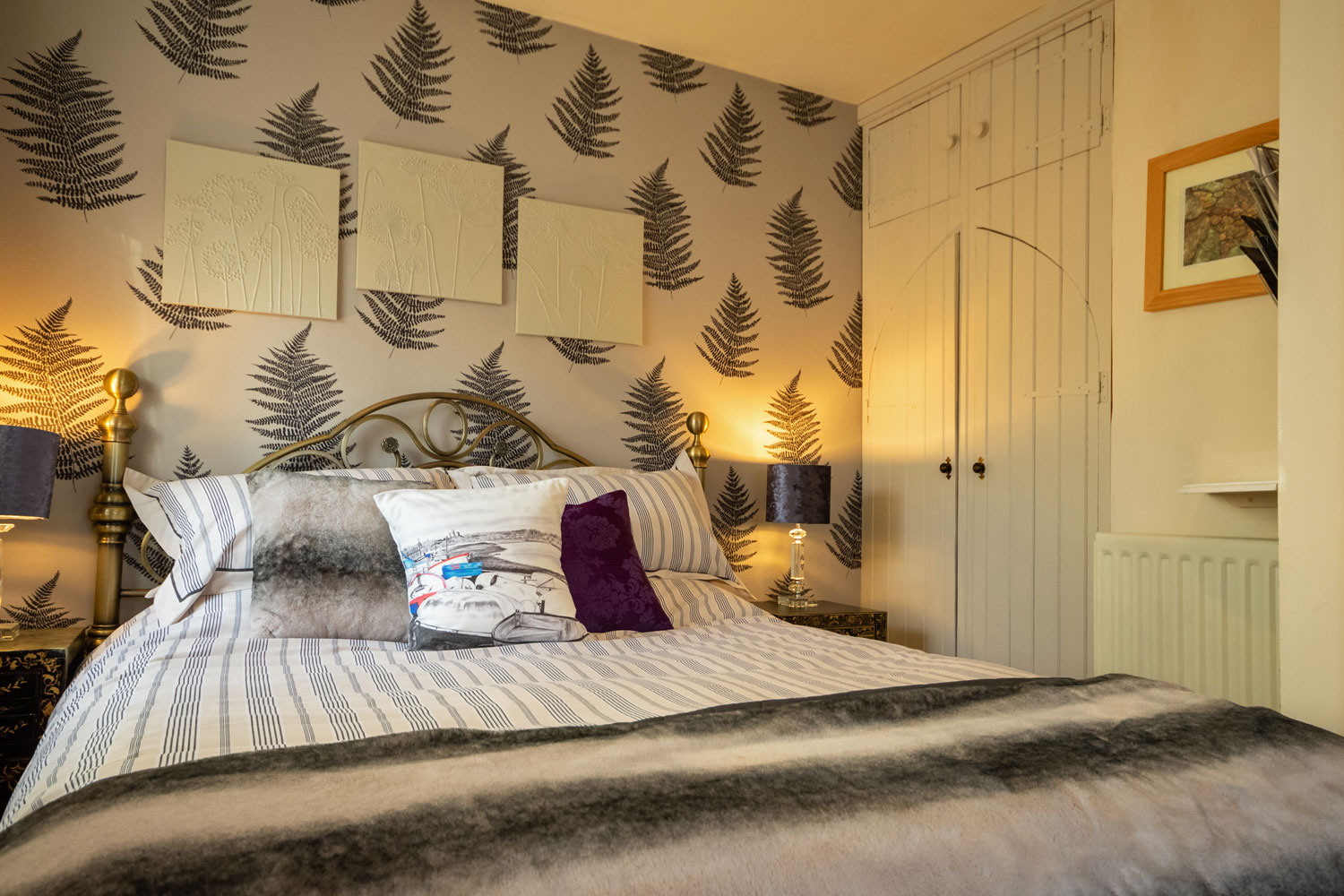 Bedroom at the Cottage at Coquet Meadows