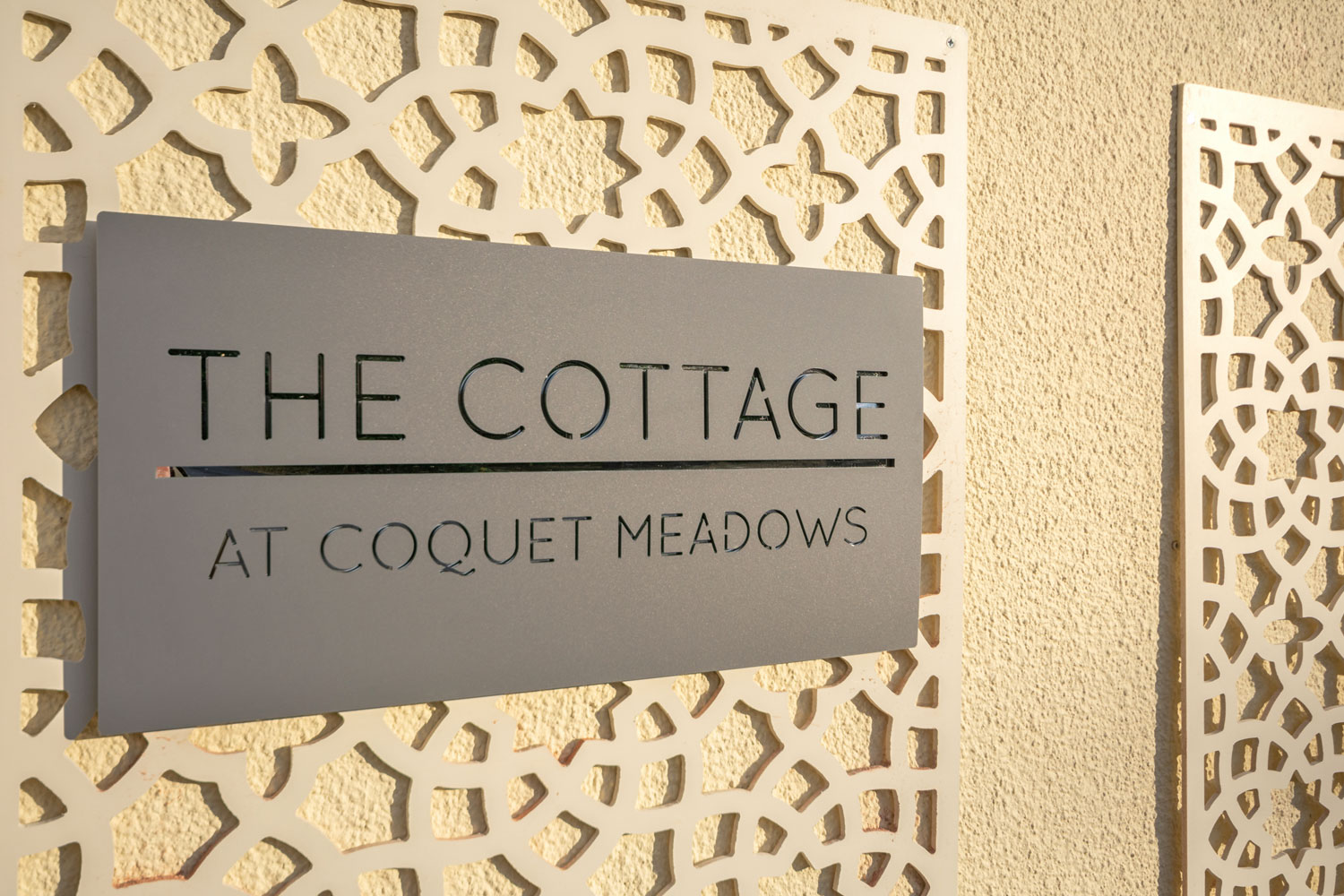 Exterior Sign at the Cottage at Coquet Meadows